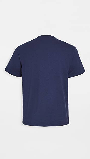 Maison Kitsune Rainbow Triangle Fox Print T-Shirt