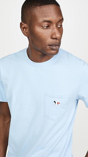 Maison Kitsune Tricolor Fox Head Patch T-Shirt
