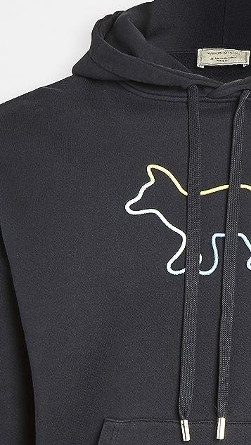Maison Kitsune Rainbow Fox Pullover Hoodie