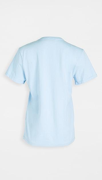 Maison Kitsune T-Shirt Double Fox Head Patch