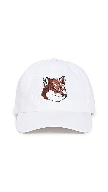 Maison Kitsune Embroidered Fox Head Cap