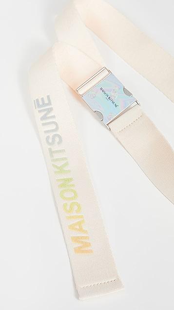 Maison Kitsune Hologram Buckle Webbing Belt