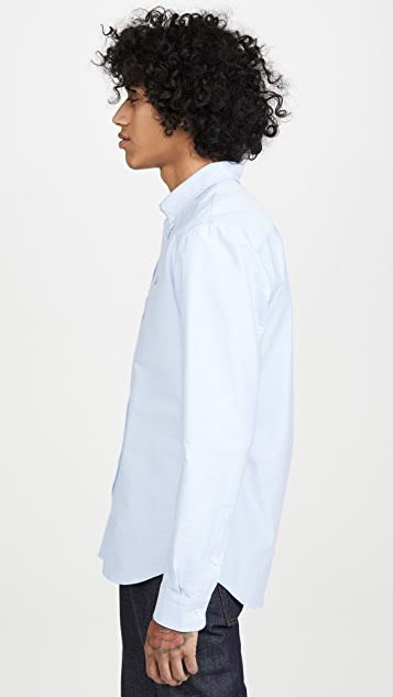 Maison Kitsune Oxford Fox Head Embroidery Classic Shirt