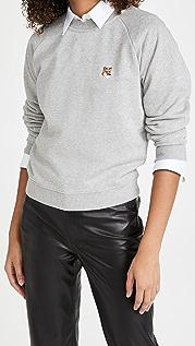 Maison Kitsune Fox Head Patch Sweatshirt