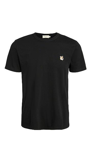 Maison Kitsune T-Shirt with Fox Head Patch