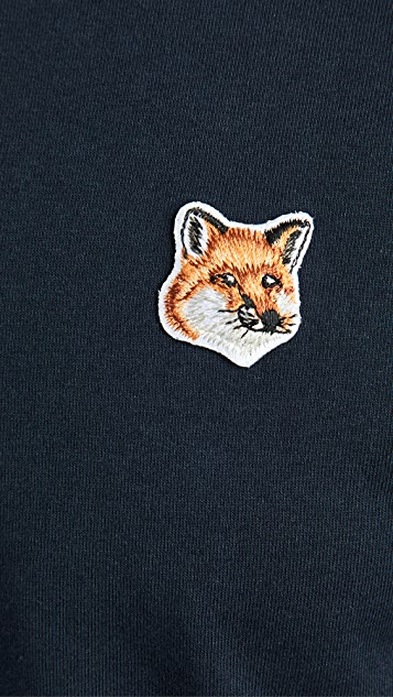 Maison Kitsune T-Shirt with Fox Head Patch