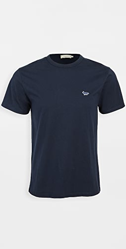 Maison Kitsune - T-Shirt with Navy Fox Patch
