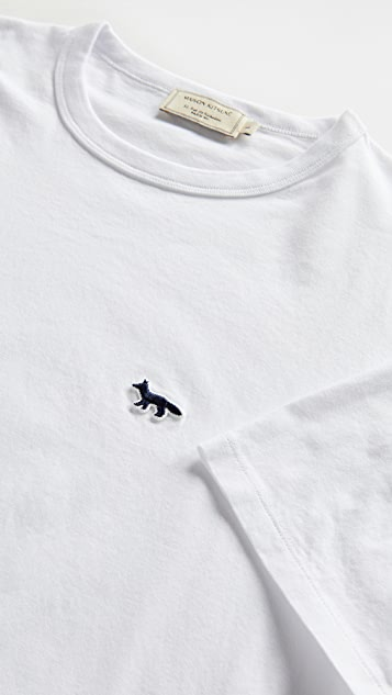 Maison Kitsune T-Shirt with Navy Fox Patch