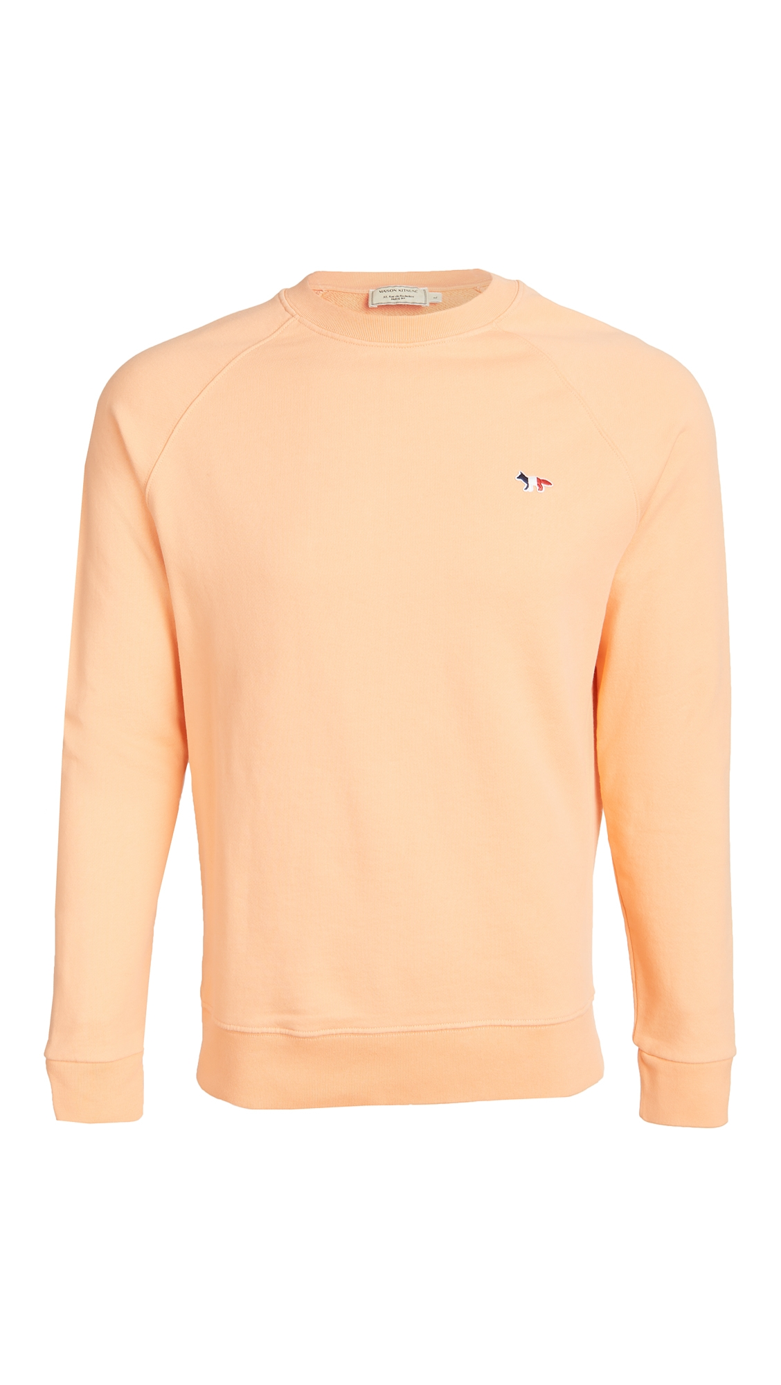 Crew Neck Sweatshirt with Tricolor Fox Patch