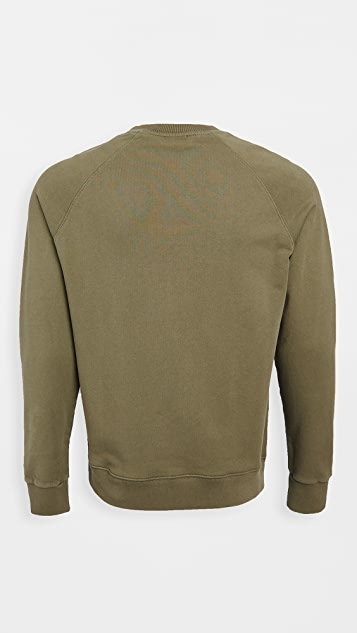 Maison Kitsune Crew Neck Sweatshirt with Tricolor Fox Patch
