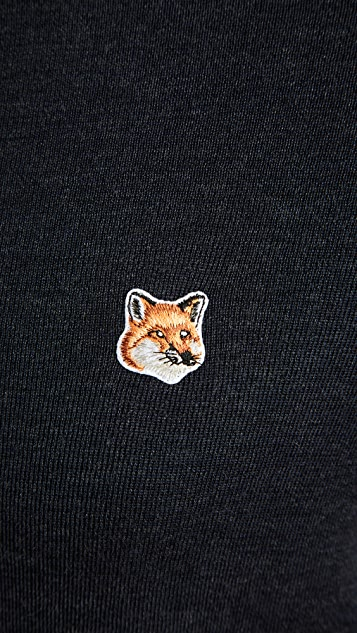 Maison Kitsune Merino Turtleneck with Fox Patch