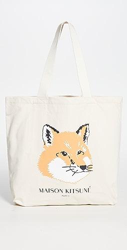 Maison Kitsune - Fox Head Tote Bag