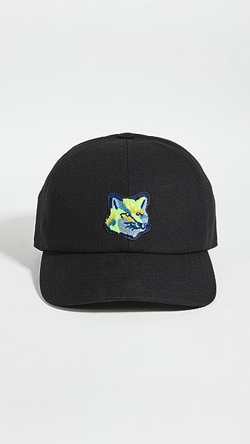 Maison Kitsune Neon Fox Patch Cap