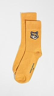 Maison Kitsune Neon Fox Head Socks
