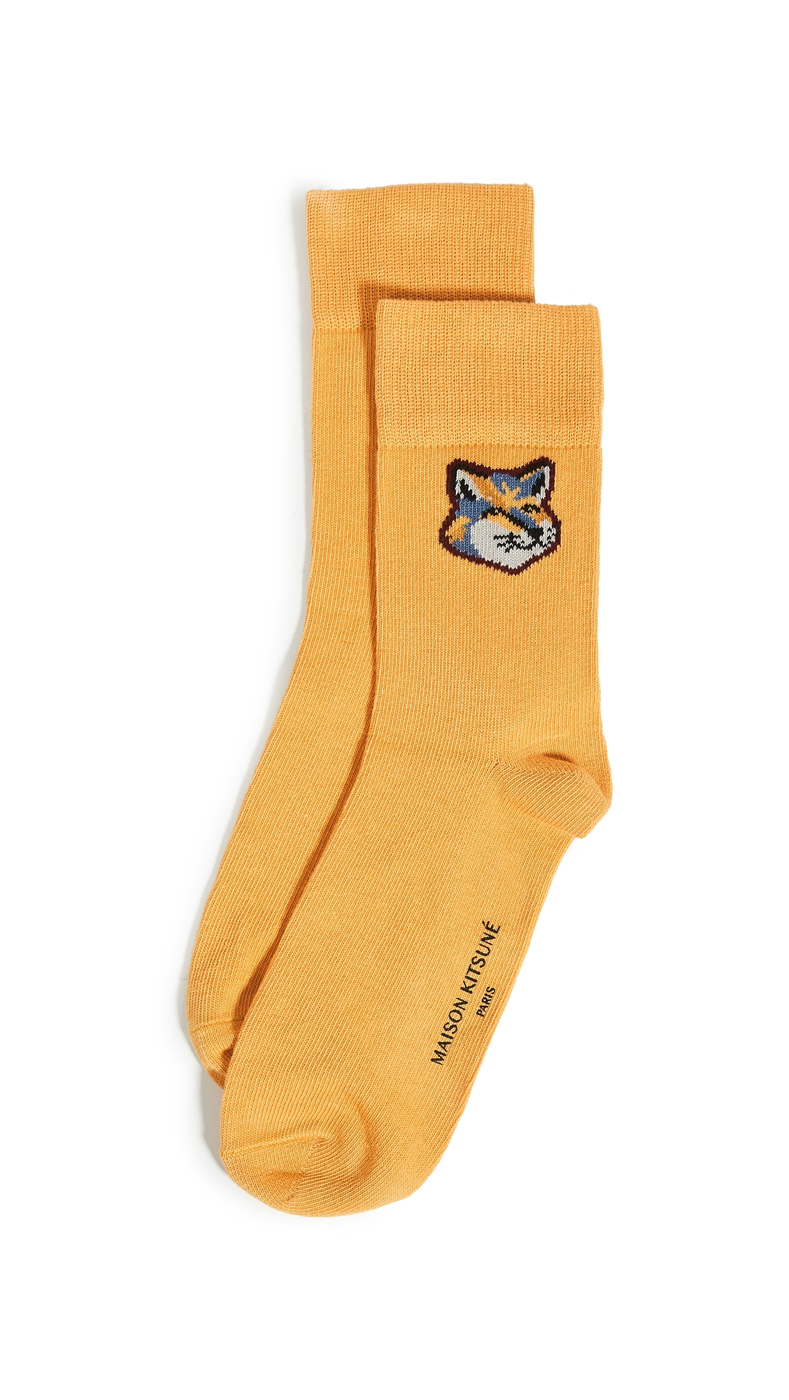Neon Fox Head Socks