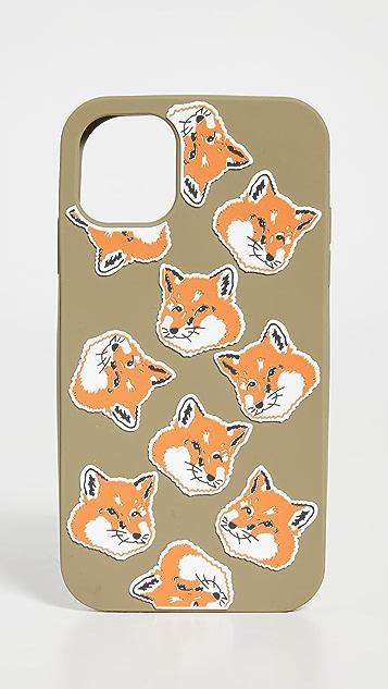 Maison Kitsune iPhone 11 Case All Over Fox Head