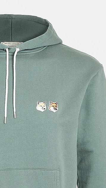 Maison Kitsune Double Fox Head Pullover Hoodie
