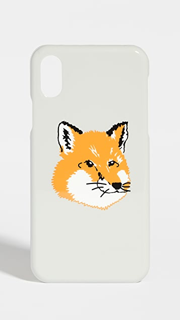 Maison Kitsune iPhone X Fox Head Case