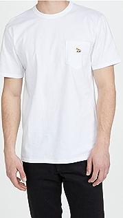 Maison Kitsune Profile Fox Patch Pocket T-Shirt