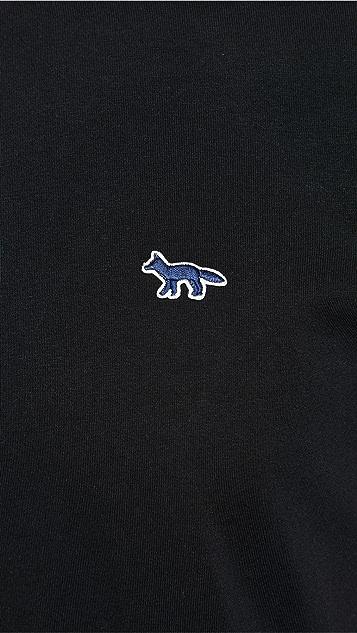 Maison Kitsune Navy Fox Patch Classic T-Shirt