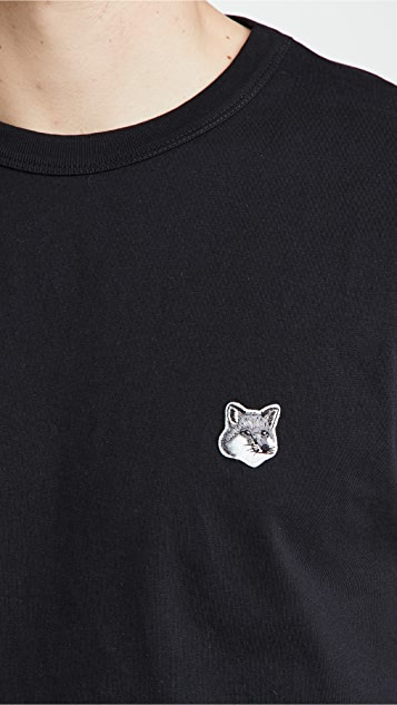 Maison Kitsune Grey Fox Head Patch Classic T-Shirt