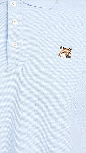 Maison Kitsune Fox Head Patch Classic Polo