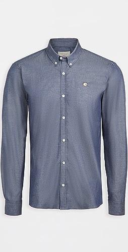 Maison Kitsune - Fox Head Embroidery Classic Shirt