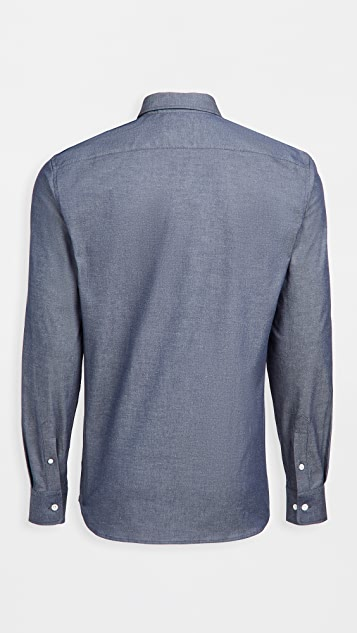 Maison Kitsune Fox Head Embroidery Classic Shirt