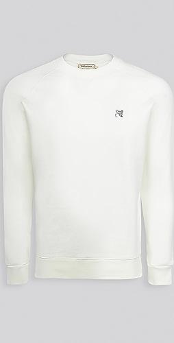 Maison Kitsune - Grey Fox Head Patch Classic Sweatshirt