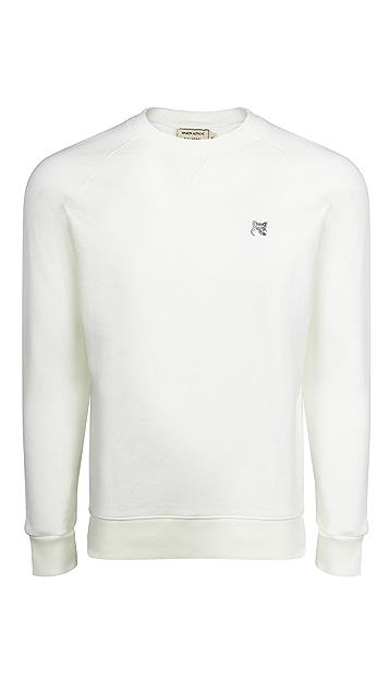 Maison Kitsune Grey Fox Head Patch Classic Sweatshirt