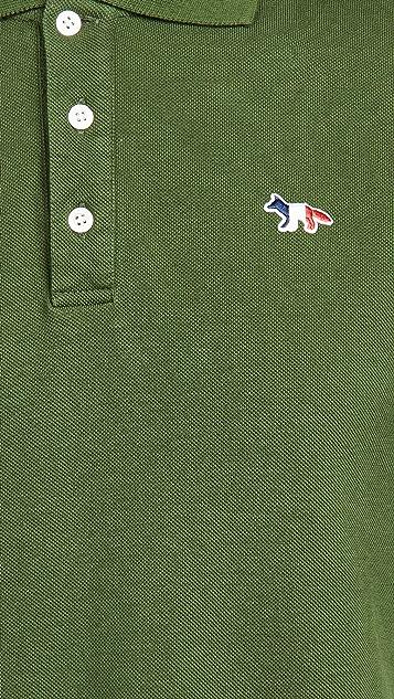 Maison Kitsune Tricolor Fox Patch Polo