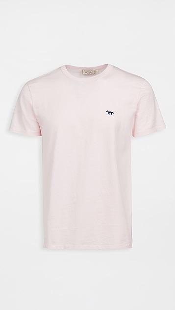 Maison Kitsune Navy Fox Patch Classic Tee-Shirt
