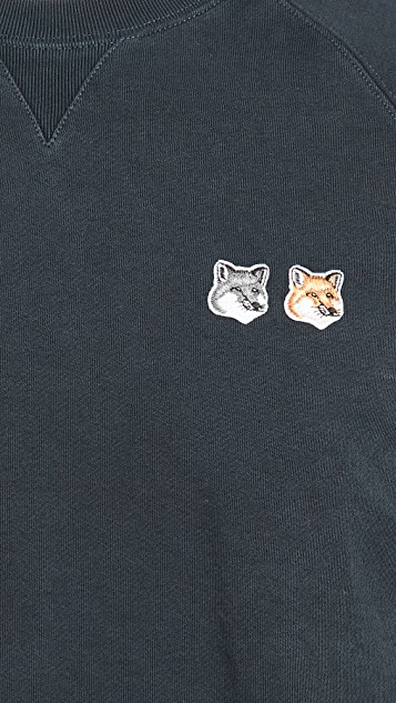 Maison Kitsune Double Fox Head Patch Classic Sweatshirt