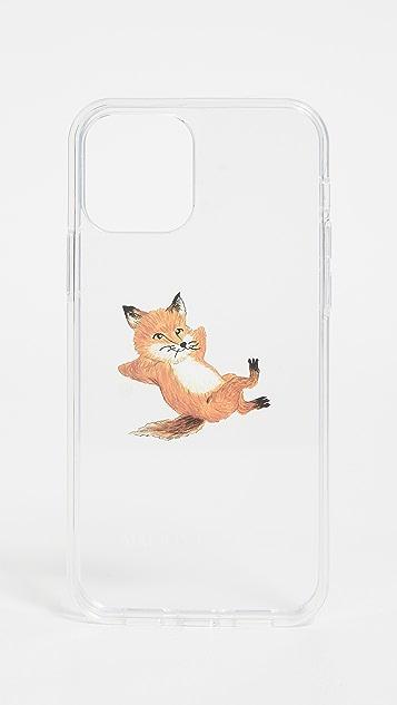 Maison Kitsune Chillax Fox Transparent iPhone 12 Pro Case