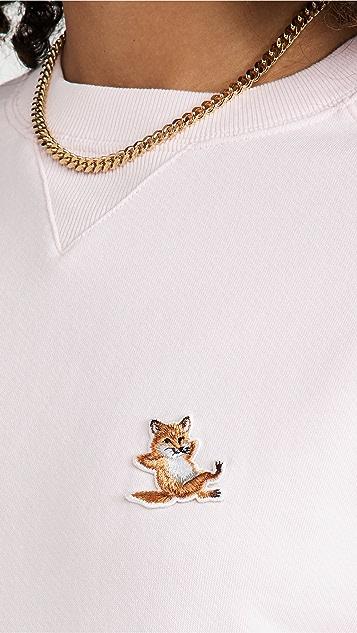 Maison Kitsune Chillax 狐狸贴片经典运动衫