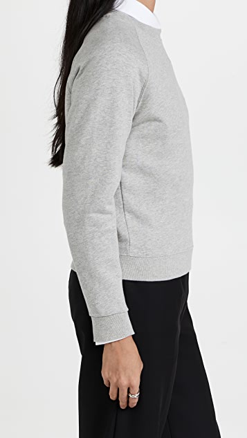 Maison Kitsune All Right Fox Patch Vintage Sweatshirt