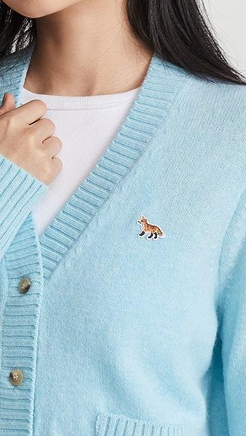 Maison Kitsune Baby Fox Patch Boxy Cardigan