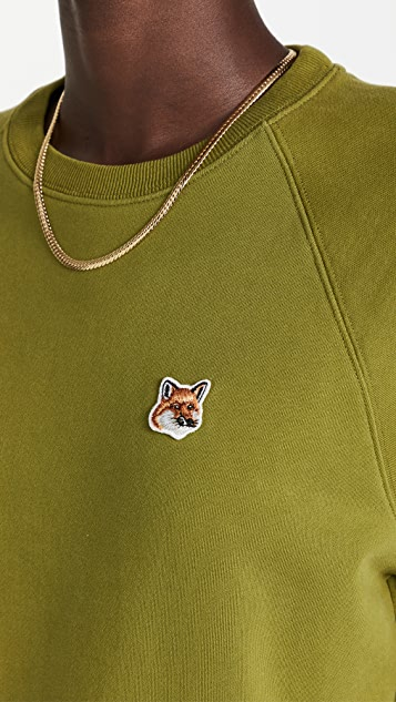 Maison Kitsune 狐狸头拼贴可调节式运动衫