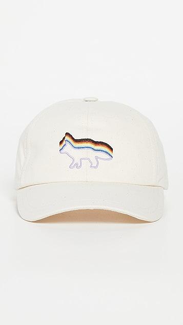 Maison Kitsune x Trevor Project Rainbow Fox Embroidered Cap