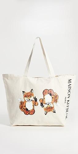 Maison Kitsune - All-Right Fox XXL Tote Bag