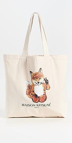 Maison Kitsune - All Right Fox Classic Tote Bag