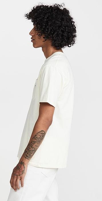 Maison Kitsune Tricolor Fox Patch Classic Pocket T-Shirt