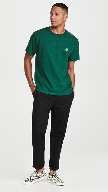 Maison Kitsune Grey Fox Head Patch Classic T-Shirt