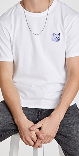 Maison Kitsune - Cool-Tone Fox Head Patch Classic Tee-Shirt