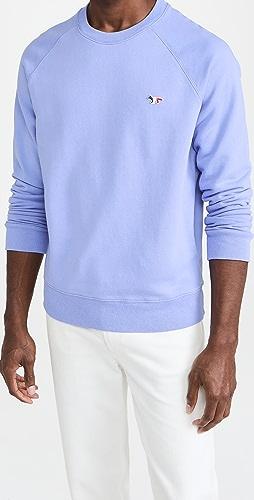 Maison Kitsune - Tricolor Fox Patch Clean Sweatshirt