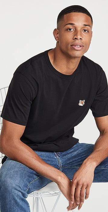 Maison Kitsune Fox Head Patch Classic T-Shirt
