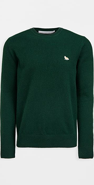Maison Kitsune Baby Fox Patch Cozy Wool Pullover