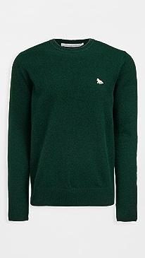 메종 키츠네 풀오버 Maison Kitsune Baby Fox Patch Cozy Wool Pullover,Dark Green