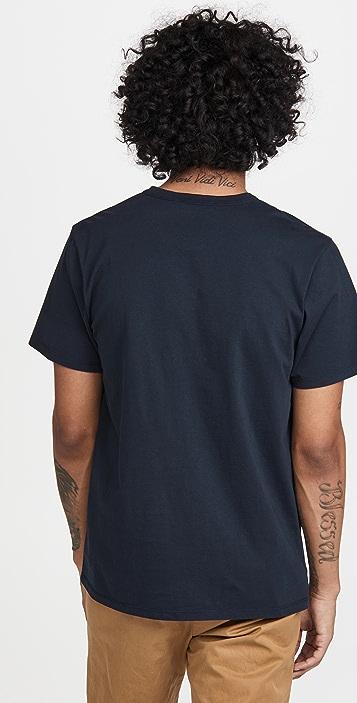 Maison Kitsune All Right Fox Patch Classic T-Shirt