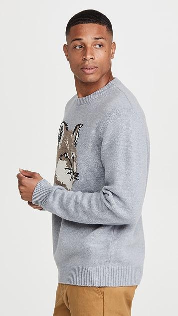 Maison Kitsune Big Fox Head Pullover Sweater